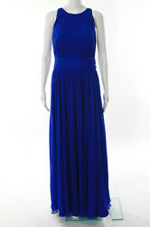 Badgley Mischka Collection Corundum Sapphire Gown Size 12 New $790 10203305