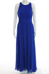 Badgley Mischka Collection Corundum Sapphire Gown Size 6 New $790 10377052