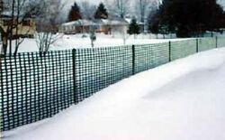 Snow Fence Polyethylene Plastic Fencing Heavy Duty 4and039 X 100and039