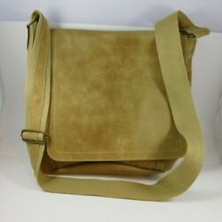 David King 6188 Distressed Leather Vertical Simple Messenger Bag FREE SHIPPING