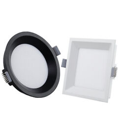 Led Ceiling Fixture Light Recessed Flush Mount Lamp Square/circle Ultrathin Hall