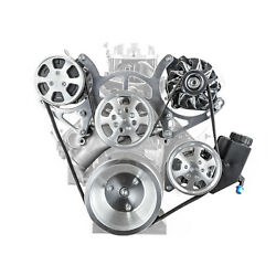 Chevy Sbc 350 Aluminum Serpentine Complete Engine Pulley And Components Kit