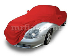 For Porsche Boxster 986 Red Indoor Fabric Car Cover W/ Mirror Pockets 96-04 New