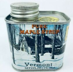 Vermont 1984 Pure Maple Syrup Tin Can