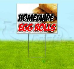 Homemade Egg Rolls 18x24 Yard Sign With Stake Corrugated Bandit Usa Cuisine