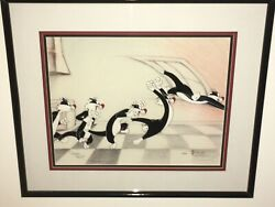 """Virgil Ross """"the Pounce Sylvester The Cat Limited Edition Animation Cel"""