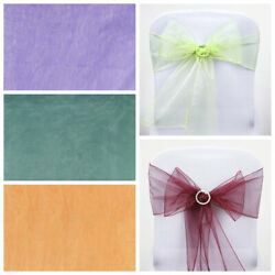 150 Sheer Organza New Chair Sashes Bows Ties Wedding Decorations Wholesale Sale