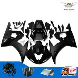 Injection Fairing Fit For Yamaha Yzf 03-05 R6 And 06-09 R6s Gloss Matt Black T006
