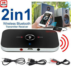 2in1 Bluetooth Transmitter amp; Receiver Wireless A2DP Home TV Stereo Audio Adapter