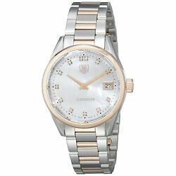 Tag Heuer War1352.bd0779 Carrera Womenand039s Two-tone Stainless Steel Watch