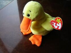 Ty Beanie Baby, Quackers Dob 4/19/94 New Condition Non Smoke Now400 Off