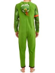 Briefly Stated Fortnite Adult Hooded Union Suit - Rex Pajamas - 2xl Xxl 1000