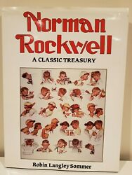 Norman Rockwell Hardcover Book - A Classic Treasury By Robin Langley Sommer 1993