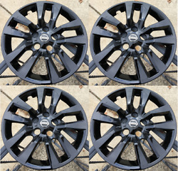 4x Black Hubcap Fits 2007-2018 Nissan Altima 16and039and039 10 Spoke 2007-2018 New