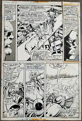 Marvel Inhumans 8 Page 17 Original Art Page By George Perez And Don Perlin 1976