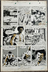 Marvel Deadly Hands Of Kung Fu 9 Pg 56 Original Art Page Signed By George Perez
