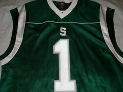Vintage Michigan State Spartans 1 Nike Green Basketball Jersey Men's Large Used