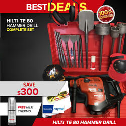 Hilti Te 80 Atc Avr Hammerpreowned Free Thermo Bottle Bits Extras Fast Ship