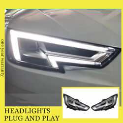 For Audi A4 Headlights Double Xenon Beam Hid Projector Led Drl 2016
