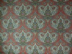 Mermoz For Travers Mandeville Printed Linen Fabric. 1 Yard + 17. F-187