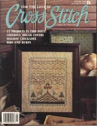 For The Love Of Cross Stitch Magazine Jan 1991 Christmas Ornaments Stocking Fan