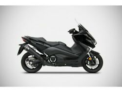 Zy098skr-fc - Full Exhaust Zard Conical Ss Carbon End Cap Yamaha Tmax 17-19