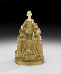 French Bronze Sculpture Of A Maiden