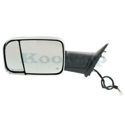 Ram 1500/2500/300 Truck Tow Mirror Power Heated W/signal Puddle Lamp Left Side