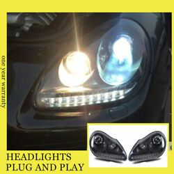 For Porsche Cayenne Headlights Double Xenon Beam Hid Projector Led Drl 2004-2006
