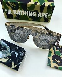 SUPER RARE - 1 Of 1 - BAPE A Bathing Ape Gold Camo Sunglasses 100% Authentic NEW