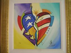 Alfred Gockel Glory Of Love Signed Numbered Abstract Giclee On Canvas