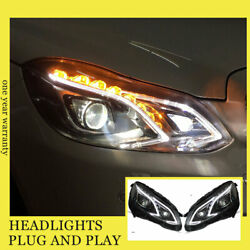 For Benz E-class Headlights Double Xenon Beam Hid Projector Led Drl 2015