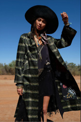 New Camilla Franks Silk Cotton Campfire Stories Jacket With Topstitched Detail