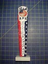 Pabst Apa American Pale Ale Tap Handle New With Box And Base  Pbr Blue Ribbon