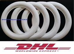 15 Wide White Wall Portawall Tire Insert Trim Set Of 4.fit Ford Chevy 327.