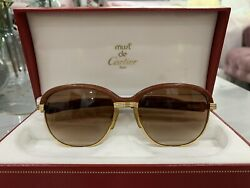 Cartier Malmaison WOOD Sunglasses