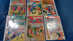6 X Old Archie Comic Books Reggie And Me, Life With, Tv Laugh Out, Pep