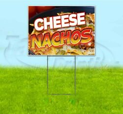 Cheese Nachos 18x24 Yard Sign With Stake Corrugated Bandit Usa Business Food