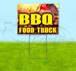 Bbq Food Truck 18x24 Yard Sign With Stake Corrugated Bandit Business Barbecue