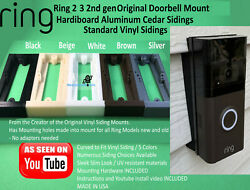 Ring 4 3/plus 2 Gen2020 And Original Doorbell Mount Angle Board And Vinyl Siding