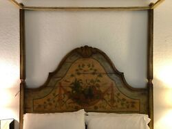 Vintage Queen Italian Bed Hand Painted. Very Unique One Of The Kind Bed