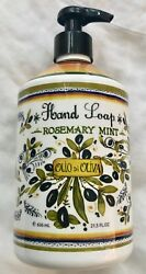 New Italian Deruta Home And Body Co Olive Oil Hand Soap Rosemary Mint 21.5 Oz