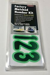 3 Inch Lime Green/black Boat Lettersnumbersstickersnumber Kit Blkki200