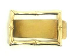 1960's Vintage And Co. 14k Yellow Gold Bamboo Money Clip