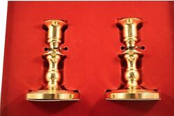2 Baldwin Brass Octagon Base 5 Candle Holders/candlesticks New In The Box