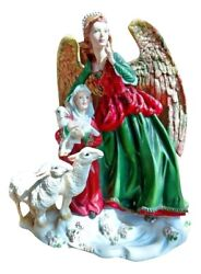 Lenox Christmas Angel Behold The Child Figurine 10 1/2 Artist Lynn Bywaters