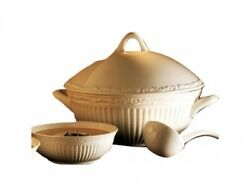Mikasa 3 Pc. Italian Countryside Soup Tureen And Ladle With Lid New In The Box