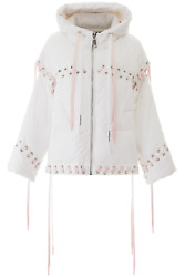 New Khrisjoy Krys Puffer Jacket Bsw018ny White Authentic Nwt