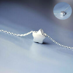 925 Silver Lovely LittlePendant Charm Chain Women Jewelry  Star  Necklace Gift
