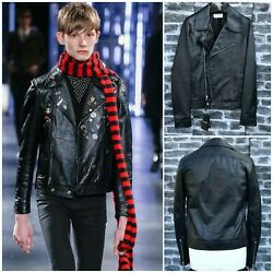Ultrarare And Great Saint Laurent Aw15 Hedi Slimane Leather Motorcycle Jacket